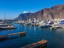 Λιμάνι Los Gigantes Tenerife στο νησί - καναρίνι Ισπανία Στοκ φωτογραφία με δικαίωμα ελεύθερης χρήσης