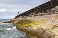 Λιμάνι Seawall του Άμπερισγουάιθ στοκ φωτογραφίες