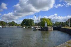Λιμάνι Sjötorp και κλειδαριά, Σουηδία Στοκ φωτογραφία με δικαίωμα ελεύθερης χρήσης