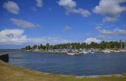 Λιμάνι Sjötorp, Σουηδία μικρών βαρκών Στοκ Εικόνες