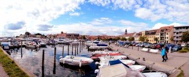 Λιμάνι Waren MÃ ¼ ritz Γερμανία πανοράματος Στοκ φωτογραφίες με δικαίωμα ελεύθερης χρήσης