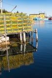 Λιμένας αλιείας αστακών Στοκ Εικόνα