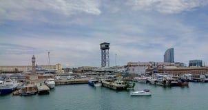 Λιμένας Βαρκελώνη ψαράδων στοκ εικόνες με δικαίωμα ελεύθερης χρήσης