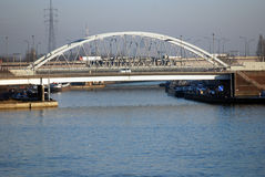 λιμένας γεφυρών της Αμβέρσ& Στοκ φωτογραφία με δικαίωμα ελεύθερης χρήσης