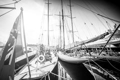 Λιμένας γιοτ σε γραπτό Στοκ φωτογραφία με δικαίωμα ελεύθερης χρήσης