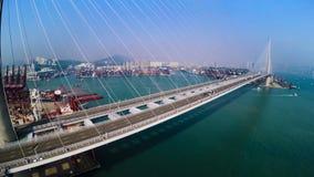 Λιμένας εμπορευματοκιβωτίων Χονγκ Κονγκ Εναέρια τοπ άποψη Χονγκ Κονγκ 4K απόθεμα βίντεο