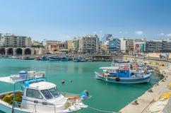 Λιμένας Ηρακλείου, νησί της Κρήτης Στοκ Εικόνα