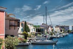 Λιμένας και λιμάνι σε Άγιος-Tropez Στοκ Φωτογραφία