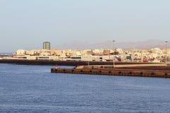 Λιμένας και πόλη Arrecife, Lanzarote, Ισπανία Στοκ φωτογραφία με δικαίωμα ελεύθερης χρήσης