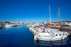 Λιμένας μαρινών Ibiza SAN Antonio Abad de Portmany Στοκ εικόνα με δικαίωμα ελεύθερης χρήσης