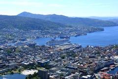 Λιμένας Νορβηγία του Μπέργκεν Στοκ Φωτογραφίες