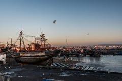 Λιμένας σε Essaouira Στοκ Εικόνες
