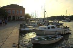 Λιμένας σε Stari Grad Στοκ εικόνα με δικαίωμα ελεύθερης χρήσης