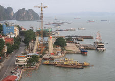 Λιμένας στη μακριά πόλη εκταρίου, Βιετνάμ Στοκ Εικόνες