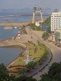 Λιμένας στη μακριά πόλη εκταρίου, Βιετνάμ Στοκ φωτογραφίες με δικαίωμα ελεύθερης χρήσης