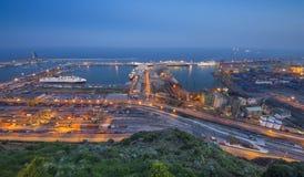 λιμένας της Βαρκελώνης city exposure long night view Στοκ εικόνες με δικαίωμα ελεύθερης χρήσης