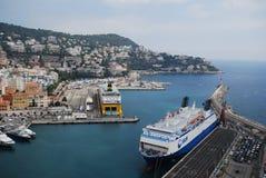Λιμένας της Νίκαιας, Promenade des Anglais, επιβατηγό πλοίο, μεταφορά νερού, θάλασσα, πορθμείο Στοκ φωτογραφία με δικαίωμα ελεύθερης χρήσης