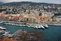 Λιμένας της Νίκαιας, Promenade des Anglais, μαρίνα, πόλη, λιμάνι, λιμένας Στοκ φωτογραφία με δικαίωμα ελεύθερης χρήσης