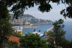 Λιμένας της Νίκαιας, Promenade des Anglais, ουρανός, φύση, σώμα του νερού, νερό Στοκ Φωτογραφίες