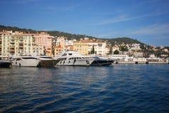 Λιμένας της Νίκαιας, Promenade des Anglais, υδάτινη οδός, μαρίνα, μεταφορά νερού, νερό Στοκ Φωτογραφίες
