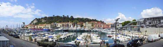 Λιμένας της πόλης της Νίκαιας, νότια Γαλλία Στοκ εικόνες με δικαίωμα ελεύθερης χρήσης