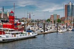 λιμένας του Αμβούργο Στοκ φωτογραφία με δικαίωμα ελεύθερης χρήσης