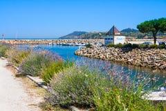 Λιμένας argeles-sur-Mer Πυρηναίο-Orientales στο τμήμα, περιοχή του Λανγκντόκ-Ρουσιγιόν, έτσι Στοκ Φωτογραφία