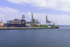 Λιμένας Arrecife Στοκ εικόνα με δικαίωμα ελεύθερης χρήσης