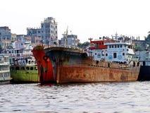 Λιμένας Dhaka, ποταμός Buriganga, Dhaka, Μπανγκλαντές στοκ εικόνες