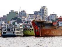 Λιμένας Dhaka, ποταμός Buriganga, Dhaka, Μπανγκλαντές στοκ φωτογραφίες