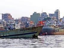 Λιμένας Dhaka, ποταμός Buriganga, Dhaka, Μπανγκλαντές στοκ εικόνα με δικαίωμα ελεύθερης χρήσης