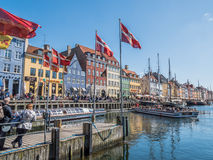 Λιμένας Nyhavn Στοκ Εικόνα