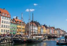 Λιμένας Nyhavn Στοκ φωτογραφία με δικαίωμα ελεύθερης χρήσης
