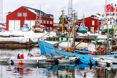 Λιμένας Sisimiut η 2$α μεγαλύτερη Greenlandic πόλη στοκ φωτογραφία με δικαίωμα ελεύθερης χρήσης