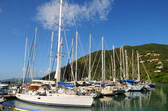 Λιμένας Tortola ι γιοτ Στοκ Εικόνες