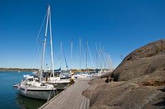 λιμενικά sailboats Στοκ Φωτογραφίες