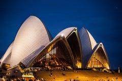Λιμενικές γέφυρα και Όπερα του Σύδνεϋ Στοκ Φωτογραφίες