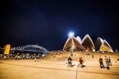 Λιμενικές γέφυρα και Όπερα του Σύδνεϋ Στοκ εικόνες με δικαίωμα ελεύθερης χρήσης
