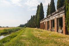 Λιμενικές καταστροφές στην αρχαία πόλη Aquileia Στοκ Φωτογραφία