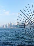Λιμενική άποψη Βικτώριας στο Χονγκ Κονγκ στοκ φωτογραφία