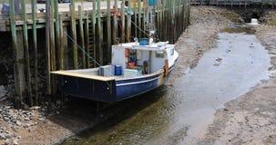 Λιμενική βάρκα αιθουσών με άμπωτη 4K φιλμ μικρού μήκους