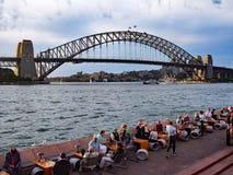 Λιμενική γέφυρα του Σίδνεϊ, άποψη από τη Όπερα, Αυστραλία Στοκ Εικόνες