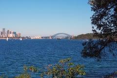 Λιμενική γέφυρα του Σίδνεϊ και Όπερα, Αυστραλία Στοκ φωτογραφία με δικαίωμα ελεύθερης χρήσης