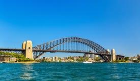 Λιμενική γέφυρα του Σίδνεϊ, που χτίζεται το 1932 Αυστραλοί Στοκ Εικόνες