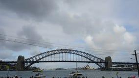 Λιμενική γέφυρα Timelapse του Σίδνεϊ απόθεμα βίντεο