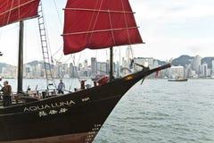 Λιμενική κρουαζιέρα παλιοπραγμάτων της Luna Aqua στο Χονγκ Κονγκ Στοκ Φωτογραφίες
