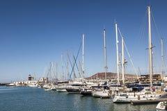 Λιμενική μαρίνα Rubicon στο BLANCA Lanzarote Playa Στοκ Εικόνες