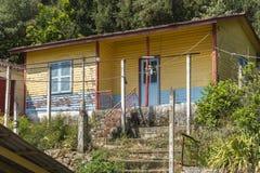 Λιμενική μπροστινή οικοδόμηση Πόρος, Elios Proni, Cephalonia Στοκ εικόνες με δικαίωμα ελεύθερης χρήσης