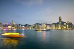 Λιμενική νύχτα Βικτώριας Χονγκ Κονγκ Στοκ Εικόνες