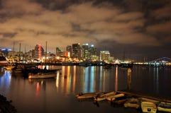 λιμενική νύχτα SAN του Diego Στοκ Εικόνα